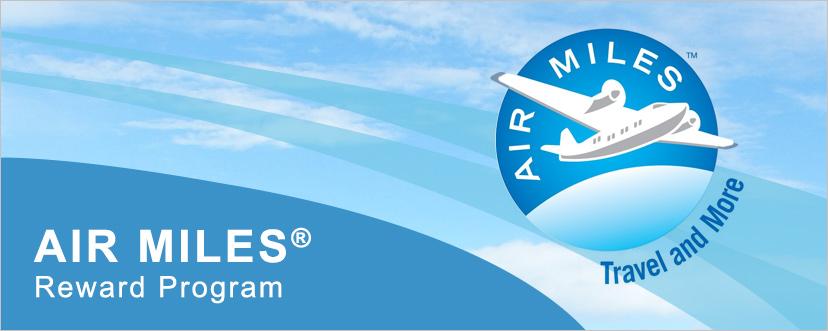 Earn AIR MILES reward miles with RSA