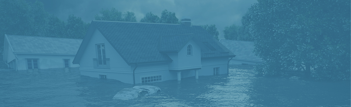 House submerged underwater